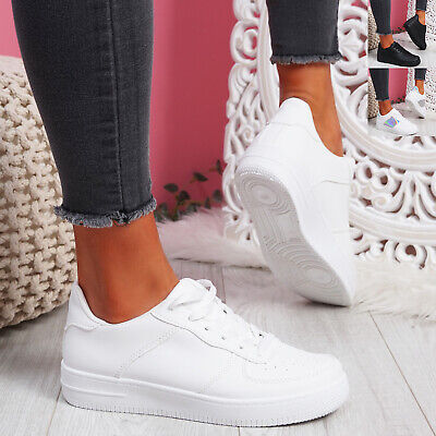 $ CDN25.56 • Buy Womens Ladies Lace Up Trainers Sneakers Platform Women Shoes Size Uk