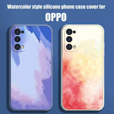 AU9.95 • Buy Case For OPPO Find X3 Pro Reno4 Z A91 Watercolor Style Shockproof Phone Cover