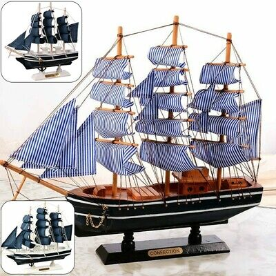 £6.84 • Buy Sailing Boat Model Gift Nautical Decor Bedroom Wooden Toys Mediterranean Style