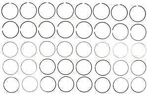 $40 • Buy Sealed Power Moly Piston Ring Set For Chevy 305/5.0 1976-93* 5/64-5/64-3/16 STD
