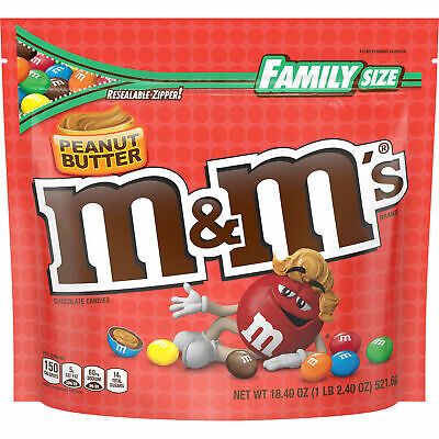 $27 • Buy Family Size Peanut Butter M&M's Chocolate Candies 18.4oz