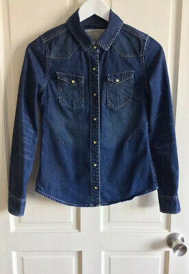 £19.99 • Buy All Saints🌟Ladies Size 8 Denim Long Sleeve Shirt 🌟Great Condition