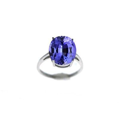 £9.91 • Buy 5.00 CTTW Genuine Tanzanite Oval Cut 925 Sterling Silver Ring Sizes 6-9
