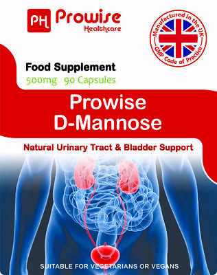 AU28.44 • Buy Prowise D-Mannose Health Supplement 500mg 90 Capsules