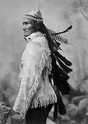 £3.99 • Buy Native American Indian Apache Geronimo Print Poster Wall Art Picture A4 +