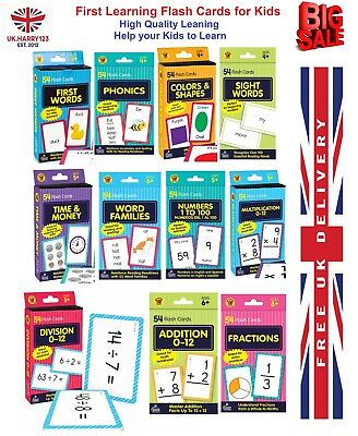 £3.72 • Buy First Words Brighter Child Flash Cards Cards Kids Educational Pre School Child