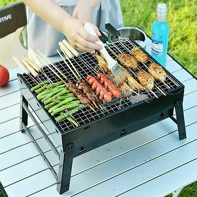 $ CDN25.84 • Buy Mini BBQ Barbecue Grill Folding Portable Charcoal Stove Camping Garden (Large)