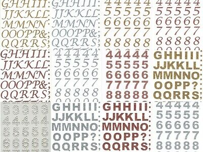 ELEGANZA ALPHABET & NUMBERS Glitter Stickers For Paper Fabric Glass Metal Wood + • 1.59£