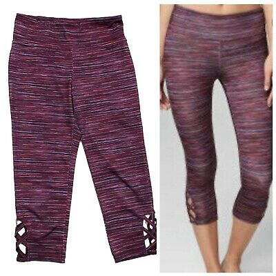 £10.61 • Buy Aeropostale Live Love Dream Space Dye Cutout Cropped Leggings Womens Size Medium
