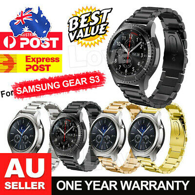 AU8.85 • Buy For Samsung Gear S3 Frontier/Classic Stainless Steel Luxury Wristband Band Strap