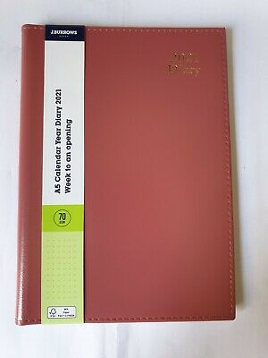 AU12.50 • Buy A5 - Week To An Opening - Calendar Year Diary 2021 - 70 Gsm