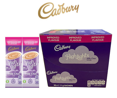 £5.59 • Buy Cadbury Highlights Instant Hot Chocolate Sachets 11g. Pack Of 10, 20 & 30.