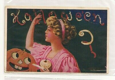 $ CDN22.90 • Buy ANTIQUE HALLOWEEN POSTCARD  Posted Stamped Circa 1908