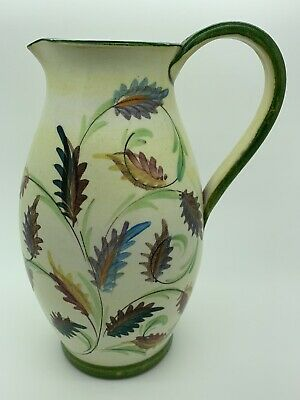 £21.95 • Buy Glyn Colledge Denby - Studio Art Pottery Hand Painted Stoneware Pottery Jug