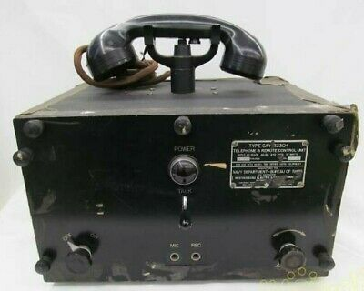 $541.24 • Buy U.S. Navy CAY-23304 Military FM Transceiver Telephone RC Vacuum Tube For Parts