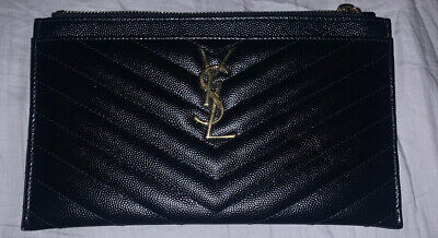 AU500 • Buy YSL Bill Pouch - Used Once - Clutch Wallet Yves Saint Laurent - 100% AUTHENTIC