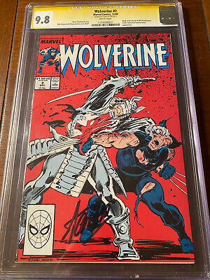 £388.82 • Buy Wolverine #2 12/88 Cgc 9.8 White Pages Ss Stan Lee! Nice Signed Book!