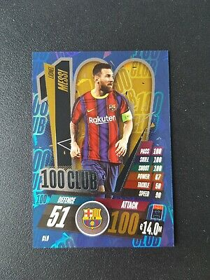 £3.99 • Buy Topps Match Attax Champions League 20/21 - Lionel Messi 100 Club Cl9