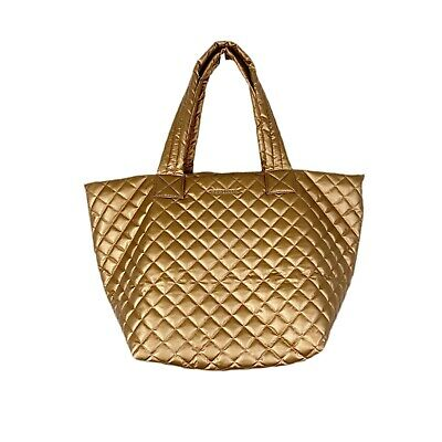 AU308.06 • Buy MZ Wallace Gold Metro Tote Bag Quilted Travel