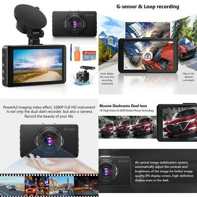 AU96.47 • Buy Dash Camera For Cars, Super Night Vision Dash Cam Front And Rear With 32G Sd Car