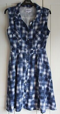 Brora Shirt  Dress Size 8 UK Blue • 21.50£