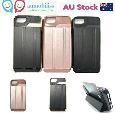 AU12.95 • Buy Shockproof Heavy Duty Case With Card Holder Stand For IPhone 7 / 7+ / SE2/ X XS
