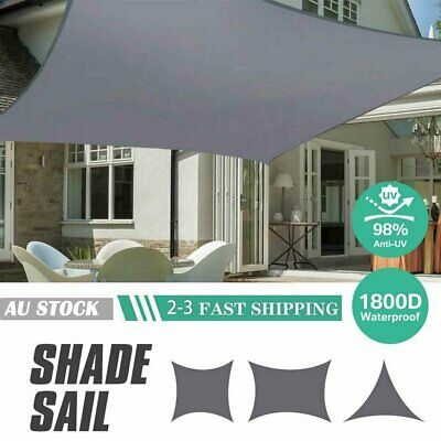 AU39.81 • Buy Extra Heavy Duty Sun Shade Sail Shade Cloth Gray Grey Triangle Square Rectangle
