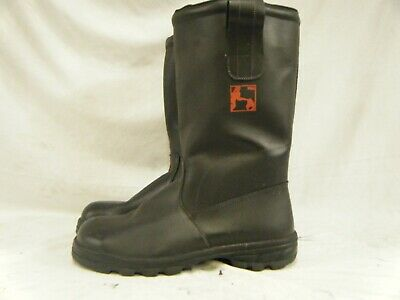 $54.99 • Buy German Army Military Firefighter Waterproof Steel Toe Cap Leather Boots Size