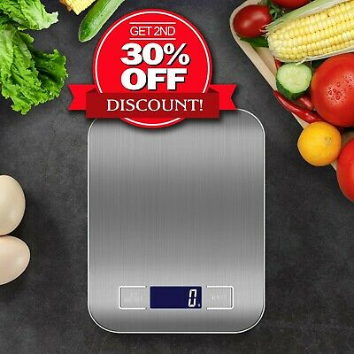 AU16.75 • Buy Kitchen Scales Cooking Electronic Digital Scale Weight 5/10kg 1g LCD Stainless