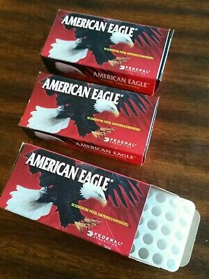 $ CDN18.52 • Buy (4) EMPTY American Eagle 9mm Ammunition Boxes With Plastic Inserts Reloading
