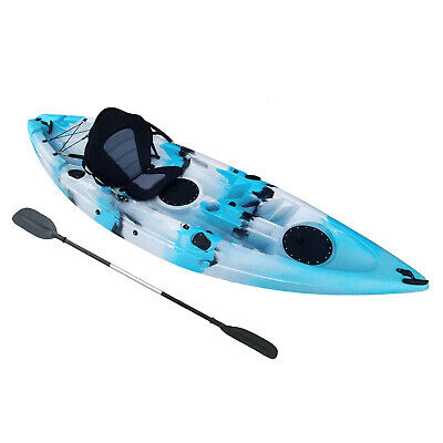 AU475 • Buy Sit On Top Fishing Kayak 2.7 Mt 20Kgs, Paddle & Seat Back Included Great Colours