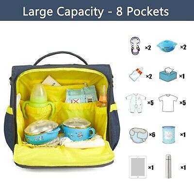 £12.99 • Buy Multi-use Incarpo Large Mummy Baby Diaper Nappy Backpack Mom Changing Travel Bag