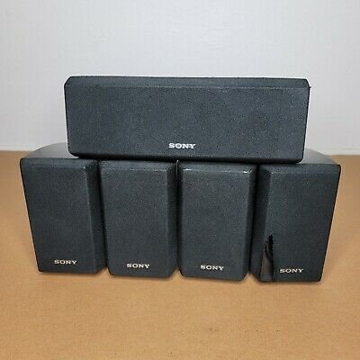 £26.17 • Buy Set Of 5 Sony Surround Sound Speakers 4 Front Rear SS-MSP2 & 1 Center SS-CNP2