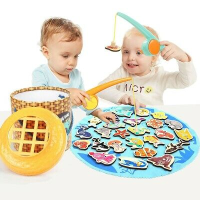 £9.99 • Buy TOP BRIGHT Children's Kids Magnetic Fishing Game Alphabet Fish Catching Toy