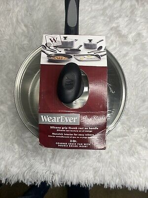 $ CDN49.99 • Buy 3 Piece WearEver 3qt Saucepan Double Boiler With Vented Lid New In Package