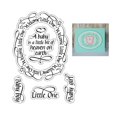£11.48 • Buy Elizabeth Craft Clear Stamps - A Way With Words-Welcome Little One CS099