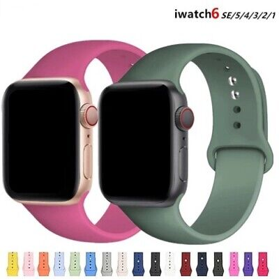 $ CDN4.89 • Buy Soft Silicone Strap Band For Apple Watch IWatch 6 SE 5 4 3 2 38/40MM 42/44MM
