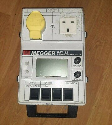 £45 • Buy AVO Megger Pat 32 Portable Appliance Tester SPARES OR REPAIRS Earth Lead Power