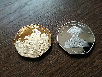 £4.99 • Buy VICE ADMIRAL HORATIO NELSON & THE BATTLE OF TRAFALGAR Silver Gold Commemoratives