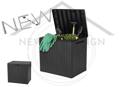 £46.99 • Buy Keter City Box Wood Effect Garden Storage Box Keter Comfy Midi Max Available
