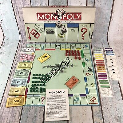 £11.04 • Buy Vintage Monopoly American Version, USA, Boxed & Complete, Parker Brothers 1985