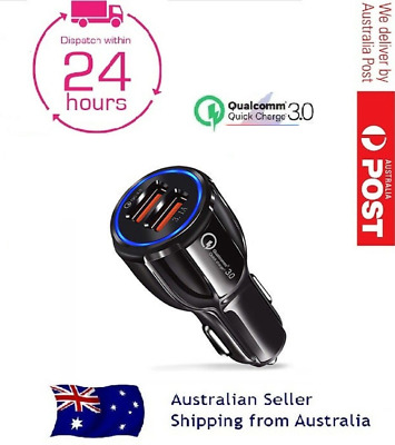 AU9.79 • Buy Quick Charge QC3.0 In Car Charger Dual Port USB Fast Charge Cigarette Socket AU