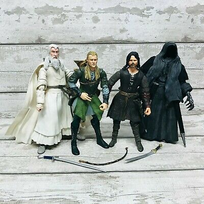 £39.95 • Buy Lord Of The Rings Large 12  Action Figures Bundle Gandalf, Aragorn, Ringwraith