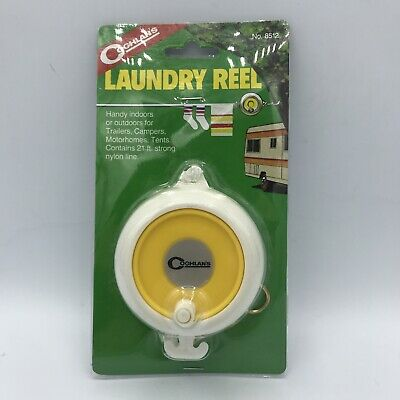 £8.60 • Buy Vintage 1984 Coghlan's Laundry Reel Portable Clothes Line Outdoor Camping RV