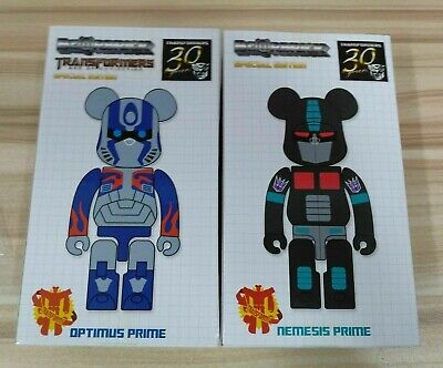 $128 • Buy Medicom Bearbrick 200% Takara Transformers Optimus Prime & Nemesis Prime Set