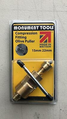 £24.89 • Buy Olive Puller Removal Plumbers Tool 15mm And 22mm - Monument Tools -