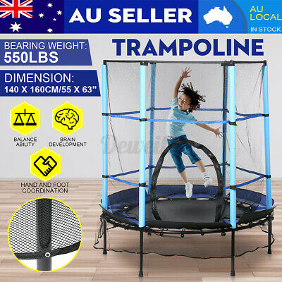 AU72.99 • Buy 4.6FT Kids Round Trampoline Enclosure Children Safety Net Pad Jumping Outdoor AU