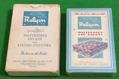 £16.95 • Buy SEALED Old 1950 Vintage  RELYON MATTRESSES DIVANS  Bed Advertising Playing Cards