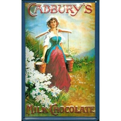 £16.99 • Buy CADBURY'S  MILK CHOCOLATE/ MAID  :EMBOSSED(3D) METAL ADVERTISING SIGN 30x20cm
