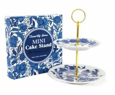 £15.95 • Buy Vintage Style Willow Blue And White 2 Tier Cake Stand With Handle New In Box